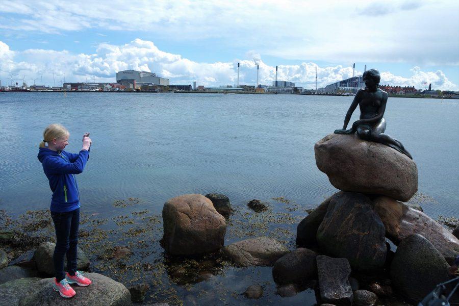 Fotografiando a la Sirenita de Copenhague