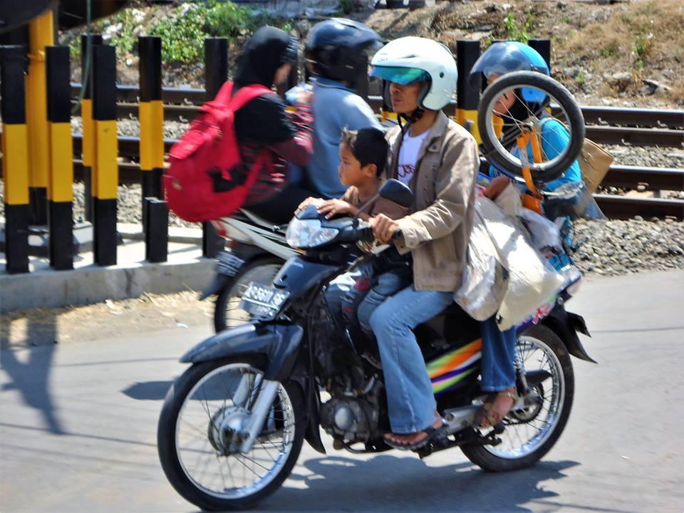 Moto en Bali