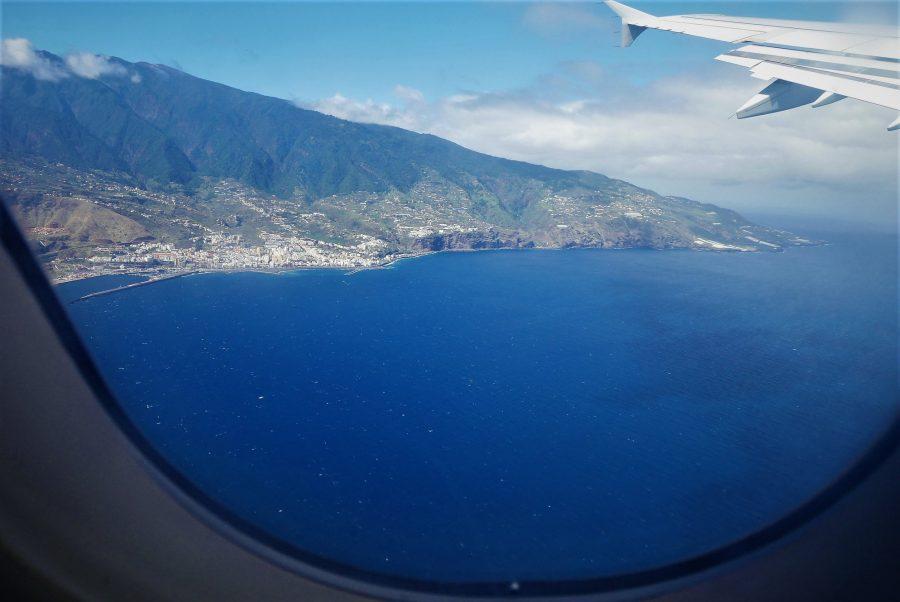 La Palma desde el avión