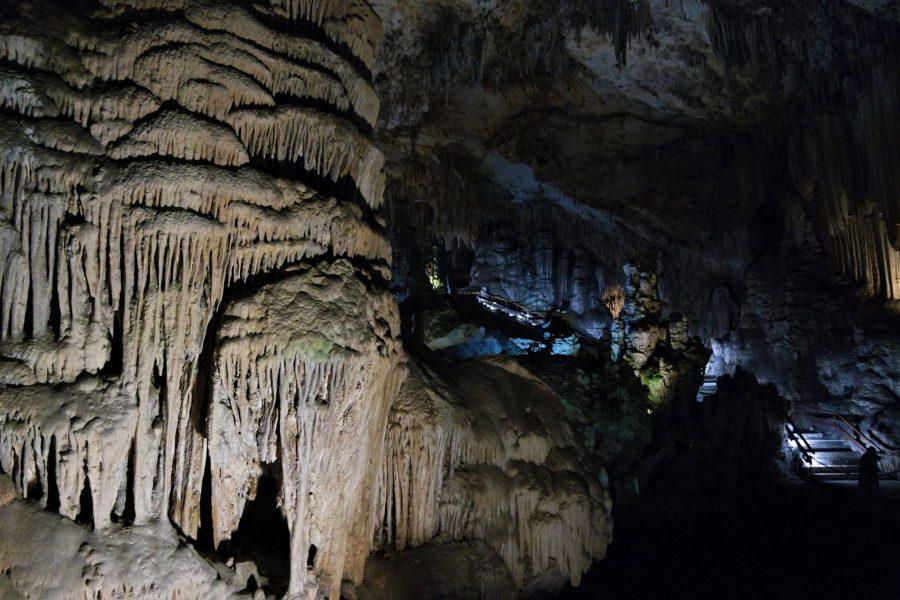 Formas geológicas, cueva de Nerja