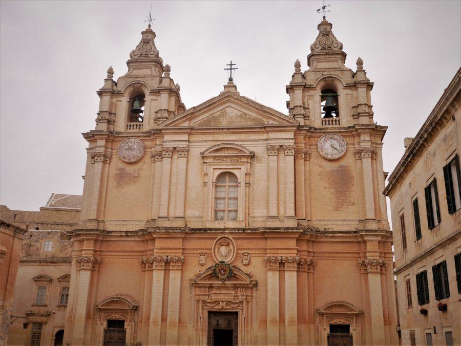 Fachada de la catedral de Mdina