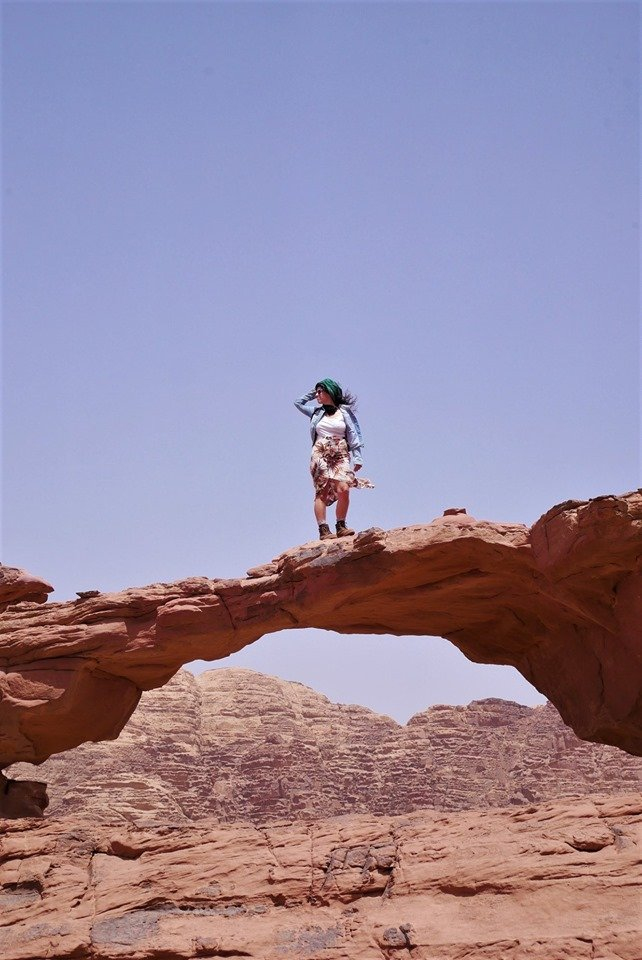 Arco pequeño en Wadi Rum