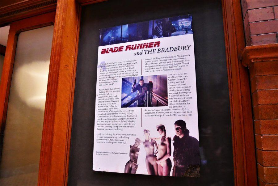 Cartel de Blade Runner en el Bradbury edificio, Downtown de Los Ángeles