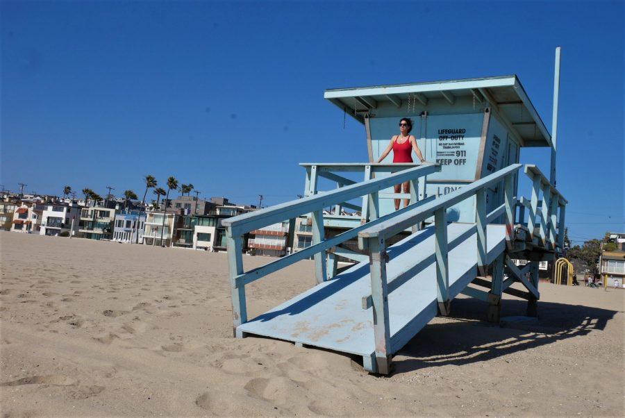Foto en la caseta de Los vigilantes de la playa