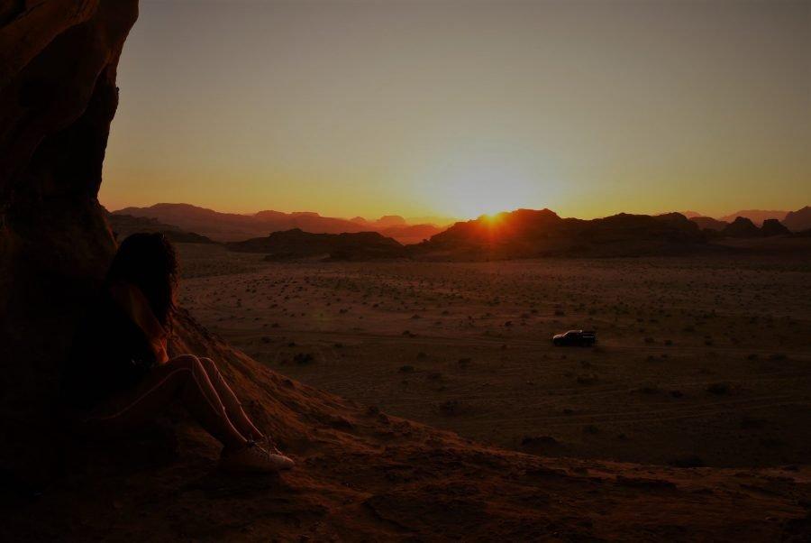 Atardecer en Wadi Rum, ruta por Jordania en una semana