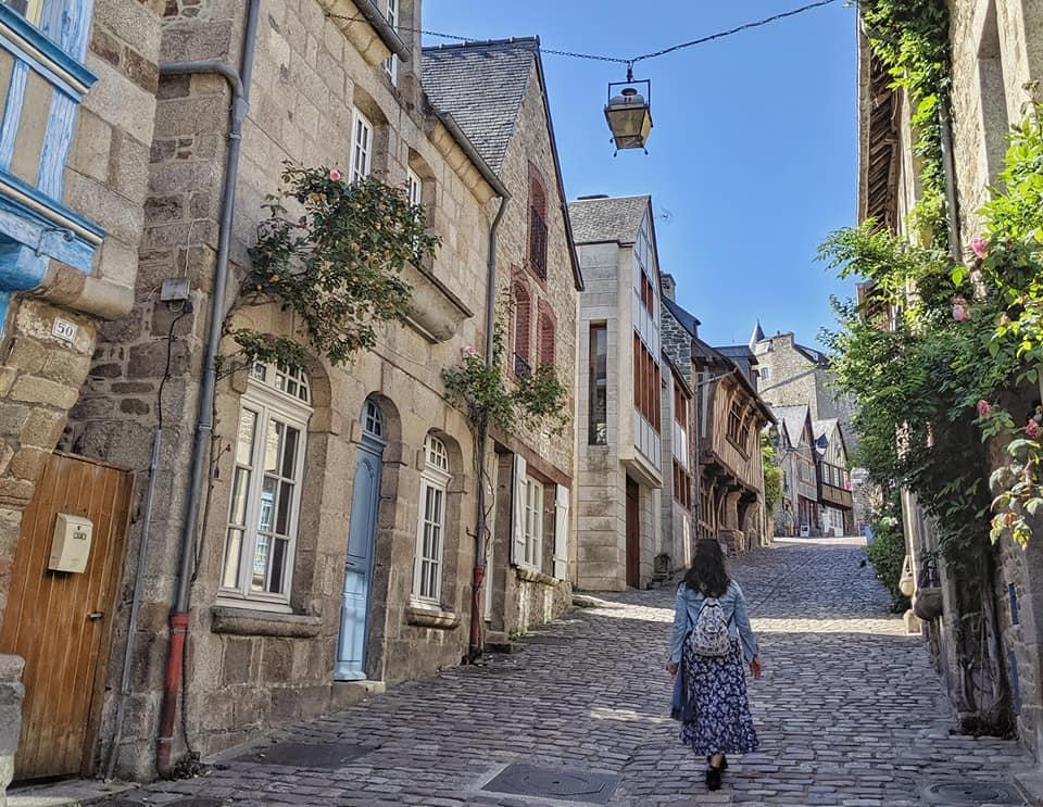 La calle más bonita de Dinan, Bretaña