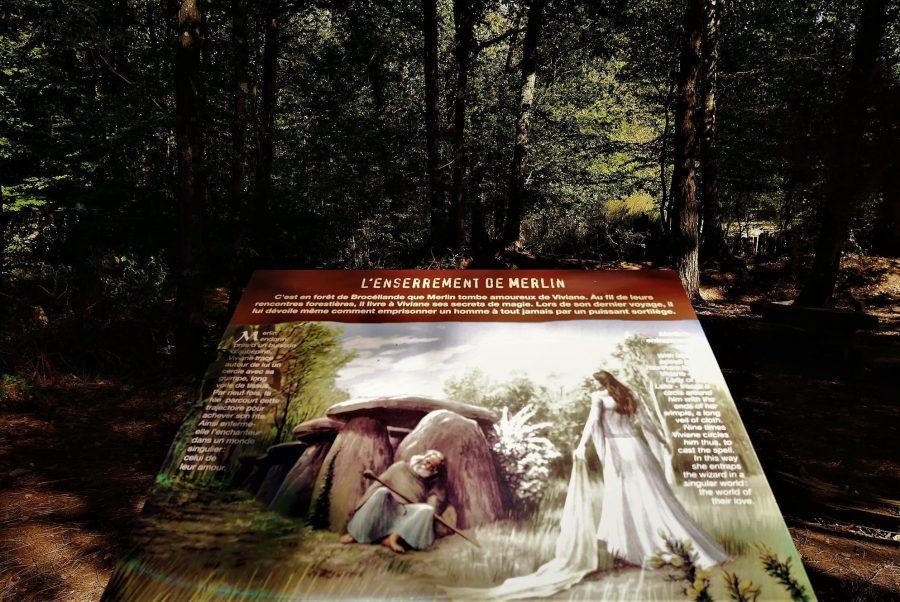 La tumba de Merlín, bosque de Brocéliande