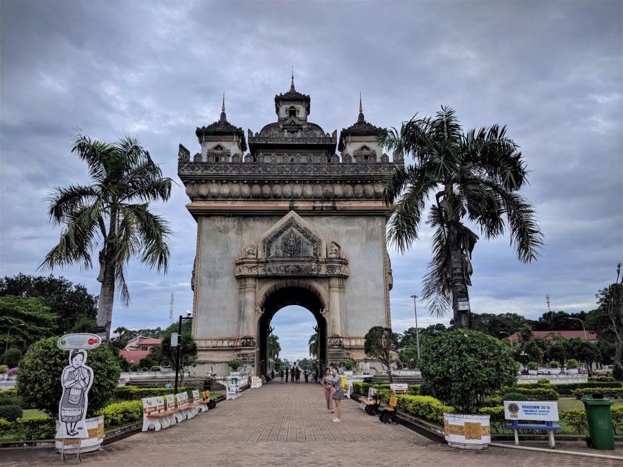 Arco del Triunfo en Vientiane, Laos