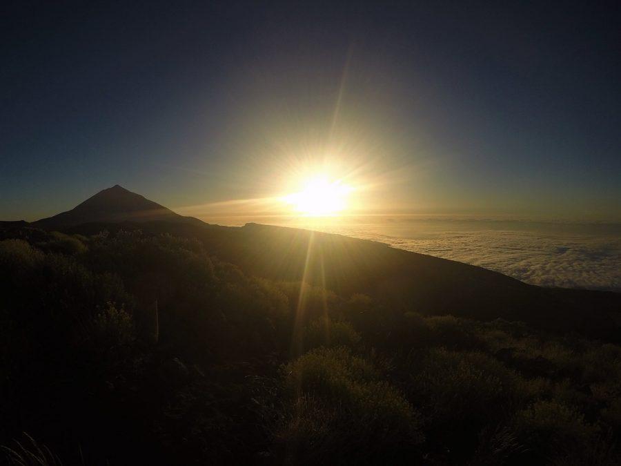 Atardecer en el Teide, leyendas de Canarias