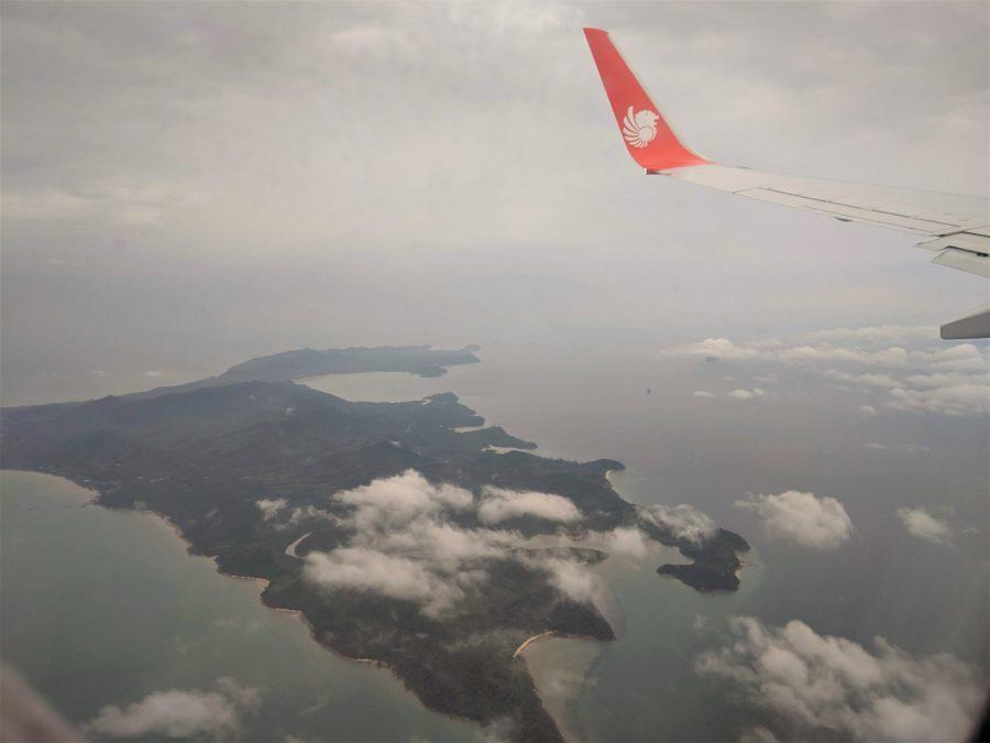 Sobrevolando las islas de Tailandia