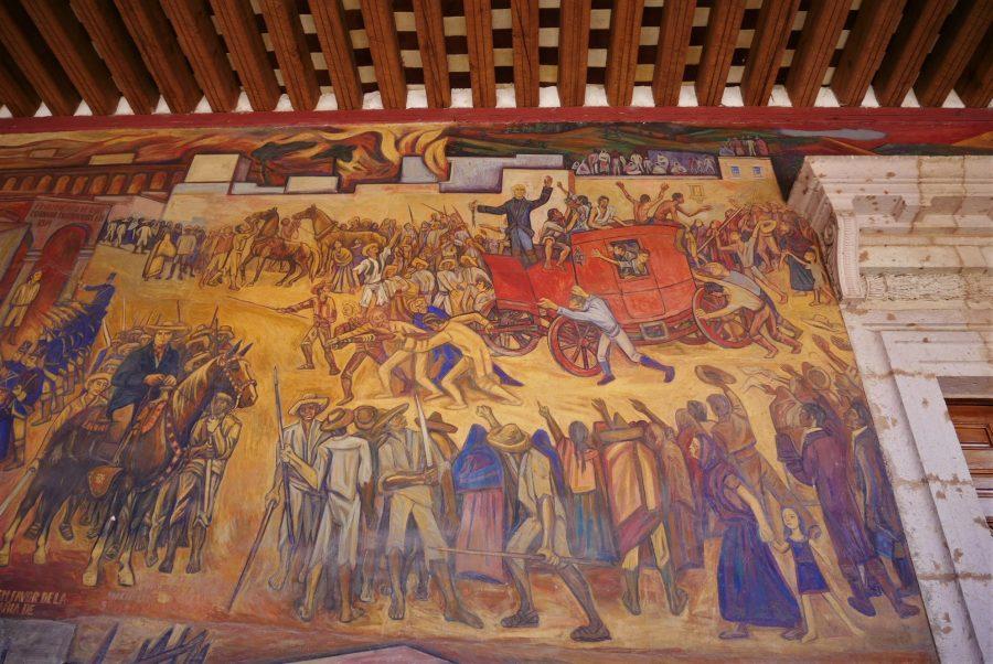 Murales con la Historia de México en el Palacio de Gobernación de Morelia