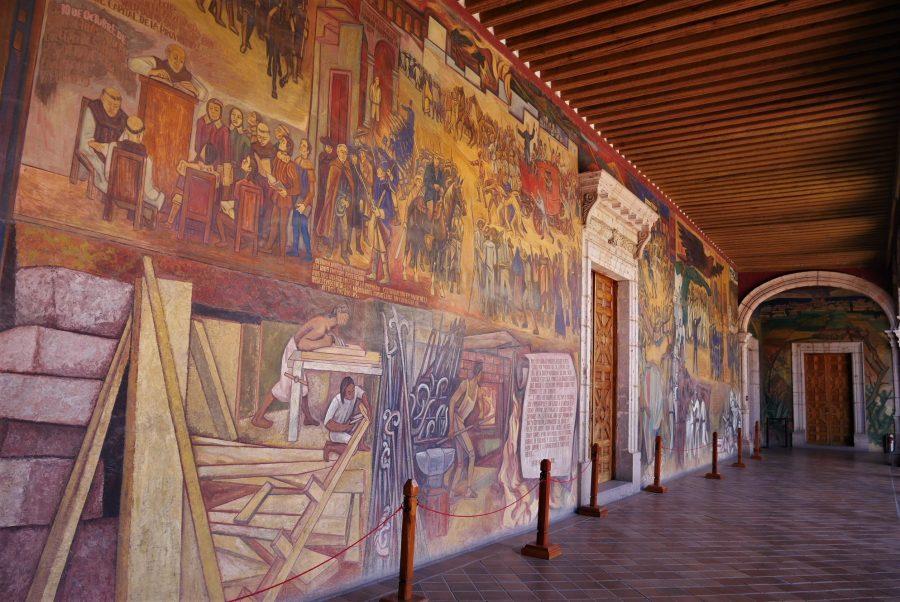 Murales del palacio de Gobernación en Morelia
