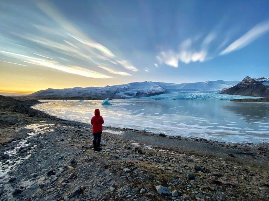 Glaciar Fjallsárlón, Islandia, nubes estratosféricas