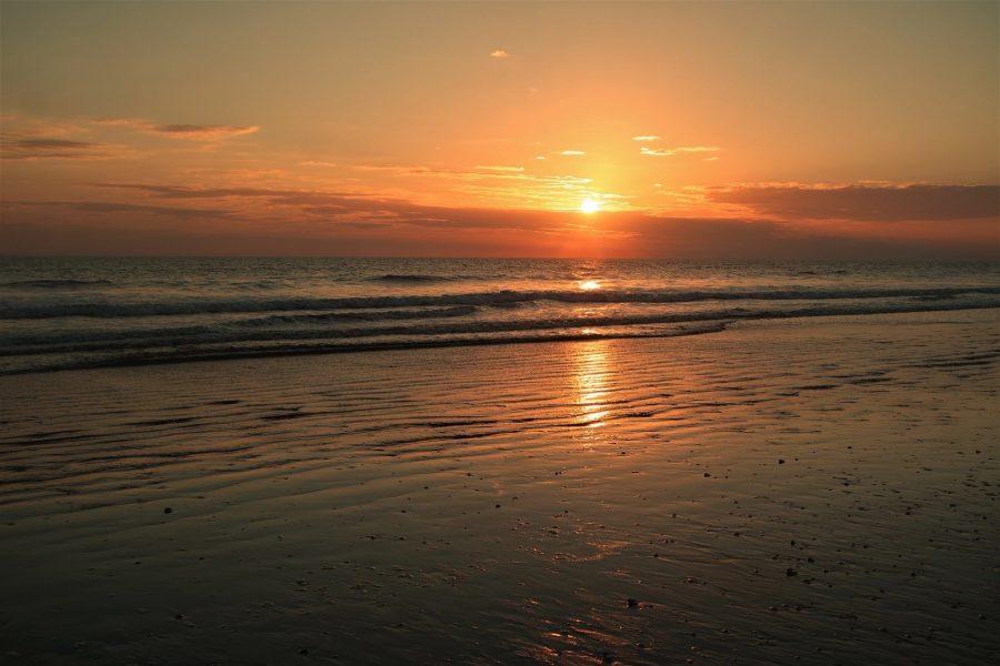 Atardecer en el Atlántico, costa de Huelva