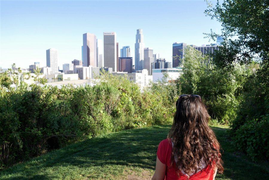 Vistas del centro de Los Ángeles, seguro para viajar a Estados Unidos
