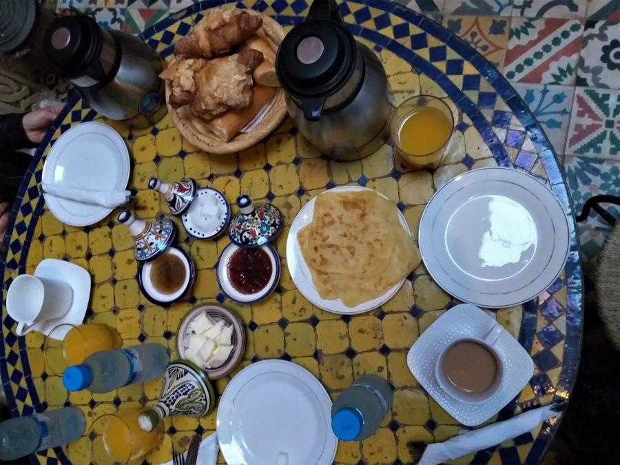Desayuno en el riad de Rabat
