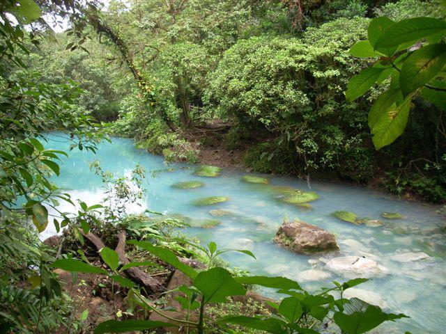 El Río Celeste en Costa Rica