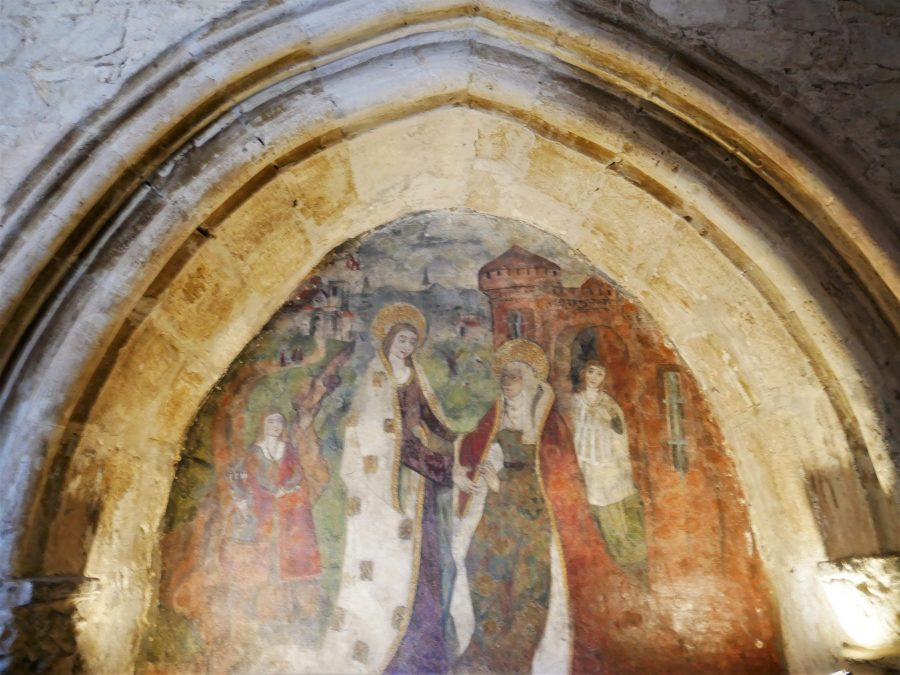 Murales medievales en la iglesia de Santa María de Wamba