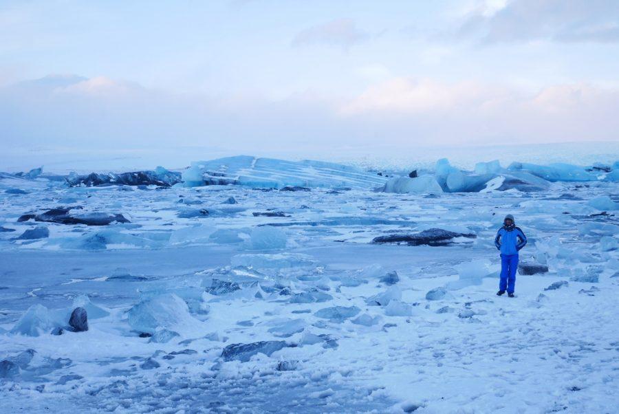 Lago glaciar de Islandia