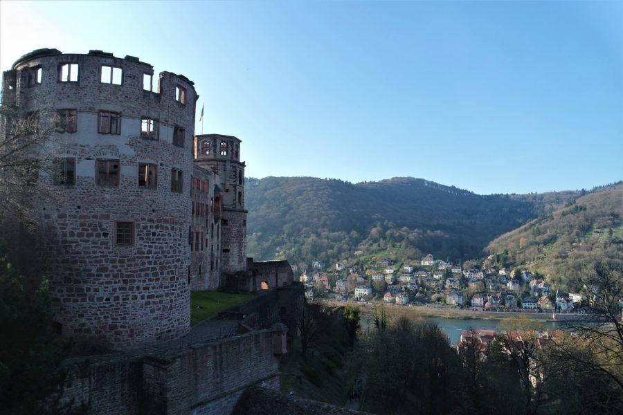 Las ruinas románticas del castillo de Heidelberg, Alemania
