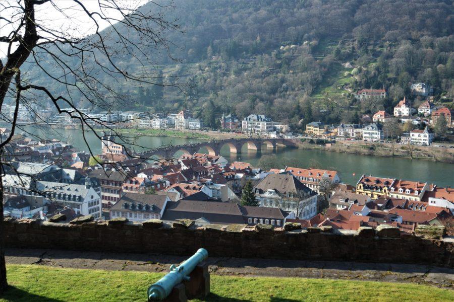 Vistas de Heidelberg desde los jardines del castillo, qué ver en Heidelberg Alemania