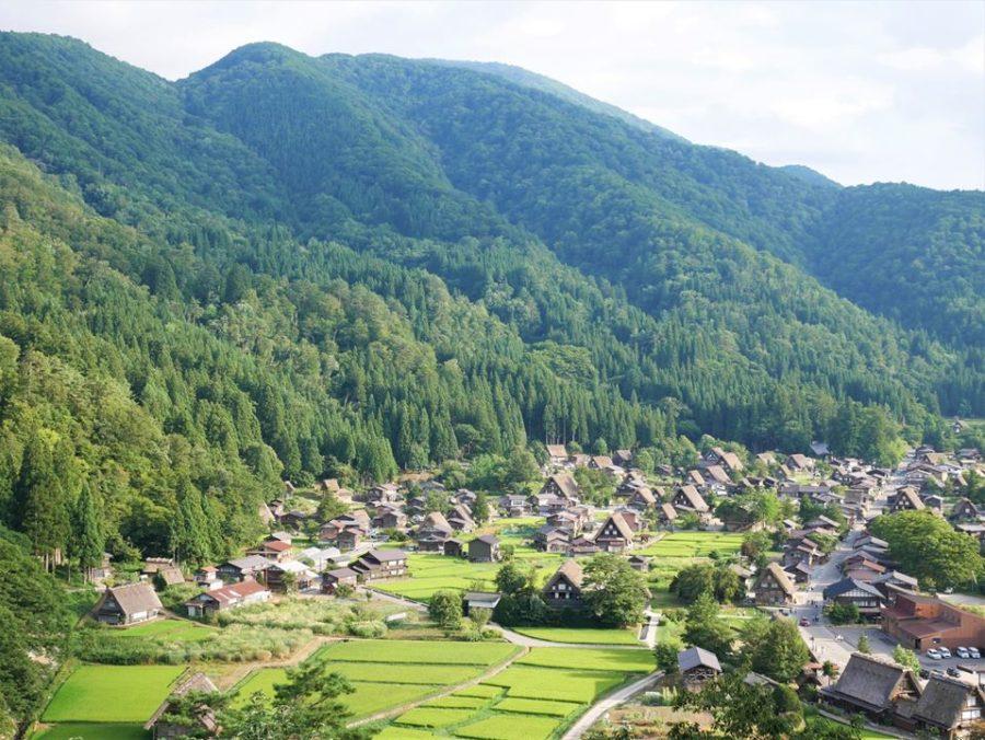 Vistas de Shirakawa-go desde el mirador