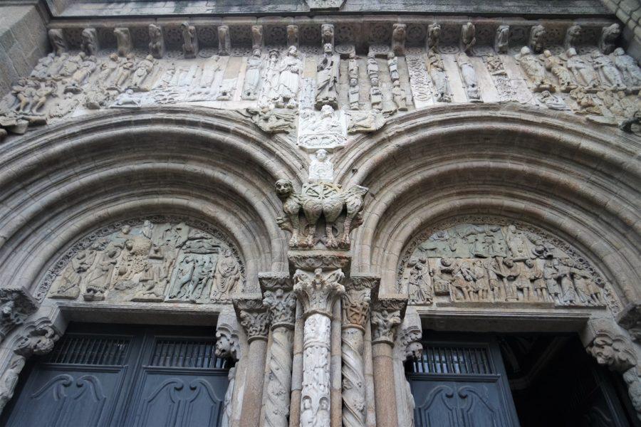 Detalles de la catedral de Santiago de Compostela