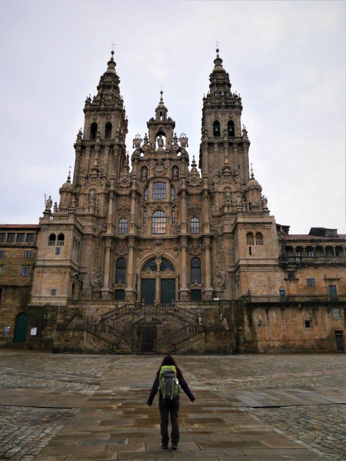 Peregrina en Santiago
