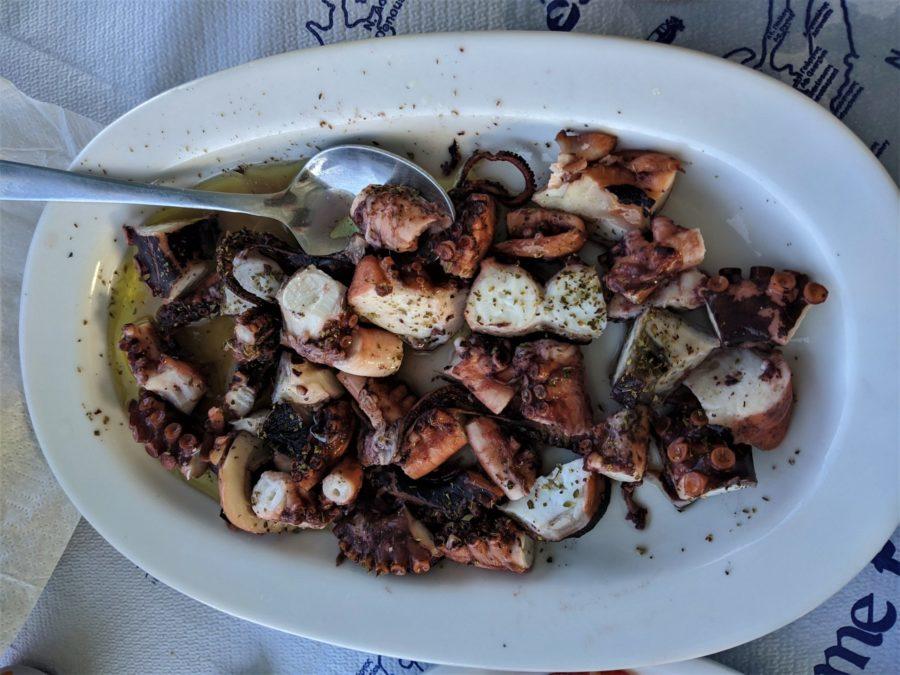 Pulpo en Amorgos