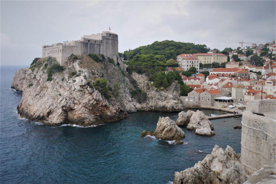 Vistas desde las murallas de Dubrovnik, Croacia