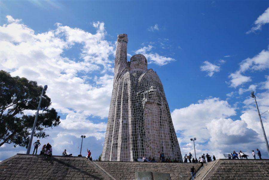 Estatua de Morelos en la isla de Janitzio, lago de Pátzcuaro
