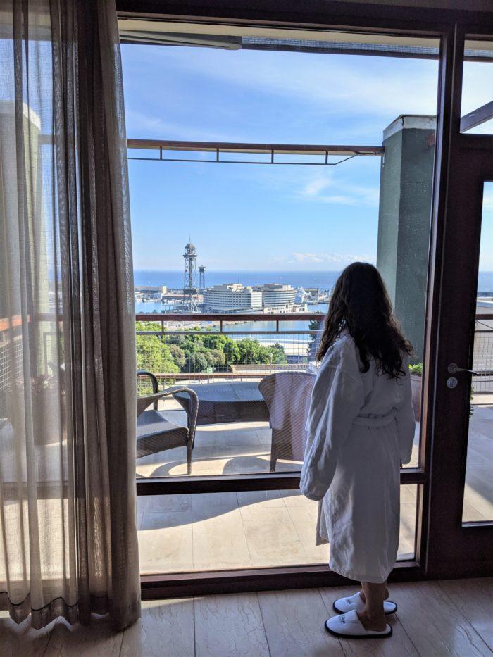 Habitación con vistas en el hotel Miramar Barcelona