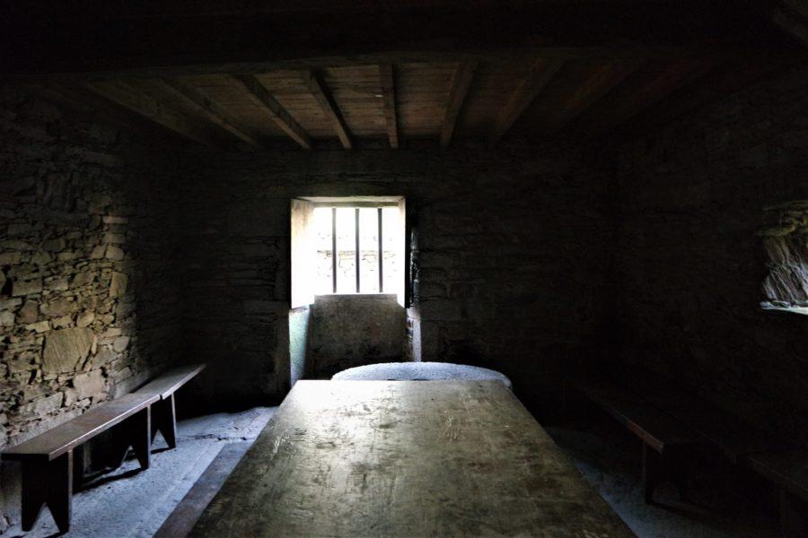 Interior de los molinos de Verdes, Galicia