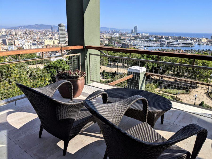 Terraza habitación hotel Miramar