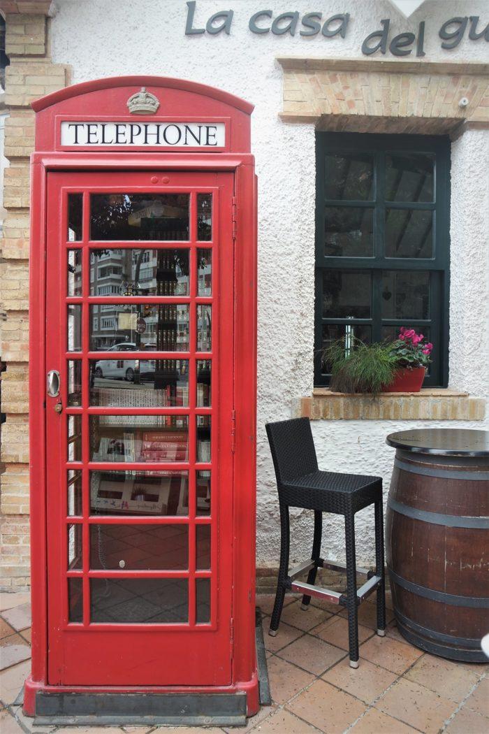 Cabina roja en el barrio inglés de Huelva
