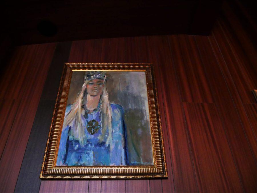 Cuadro de la princesa Kristina en la ermita de San Olav
