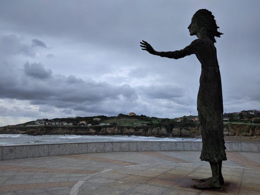 La madre del emigrante, Gijón