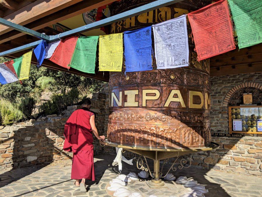 La rueda de la oración, O Sel Ling, Centro Budista Granada