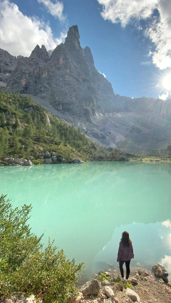 Trekking al lago di Sorapis en los Dolomitas