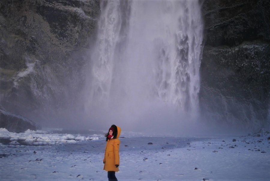 Cascadas de Islandia en invierno