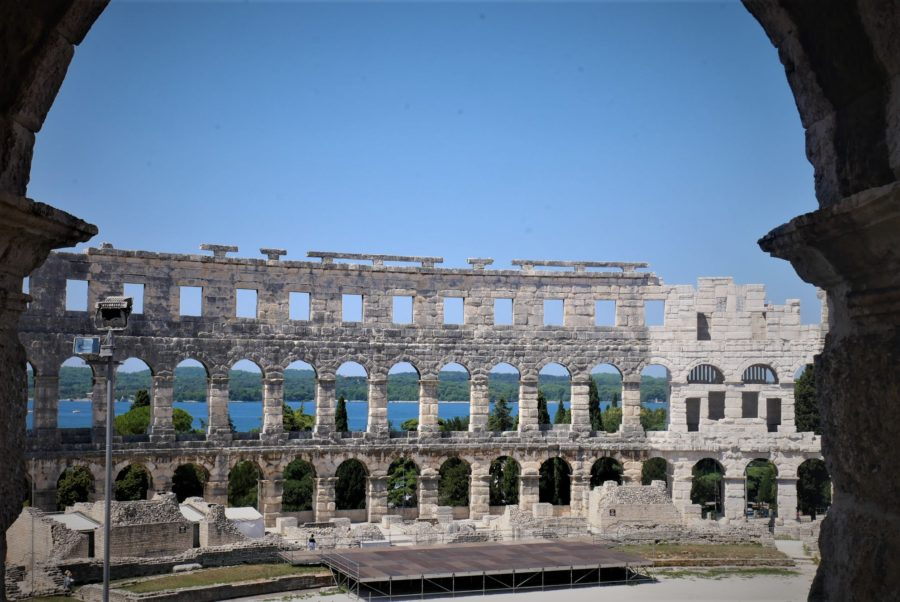 El Anfiteatro romano de Pula en Croacia