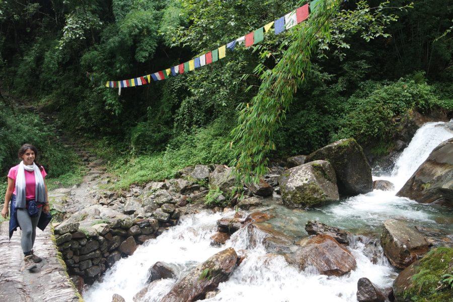 Puentes en el Himalaya, trekking al Campo Base del Annapurna