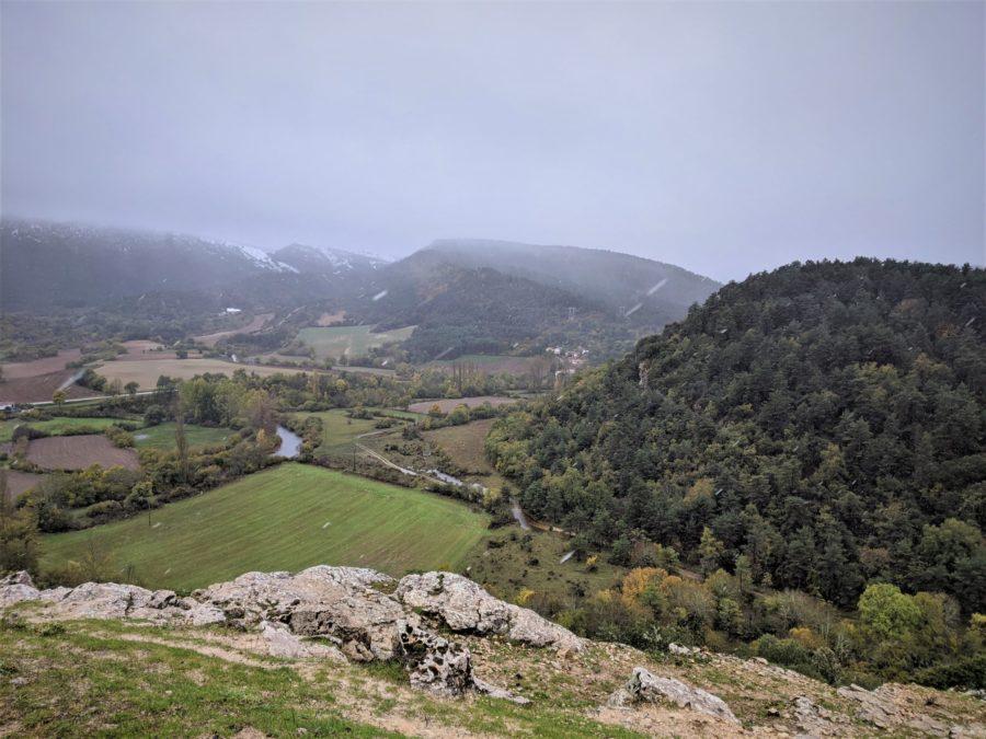 Vistas al valle desde San Pantaleón de Losa