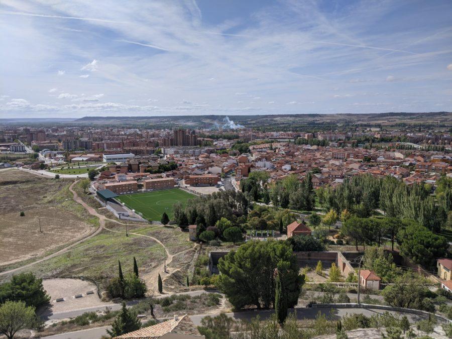 Vistas de Palencia desde el cristo del Otero