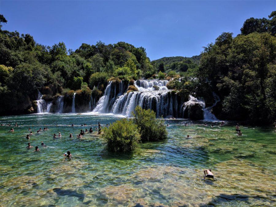 Cascada, Parque Nacional de Krka en Croacia