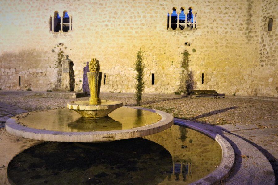 Patio del castillo de Brihuega