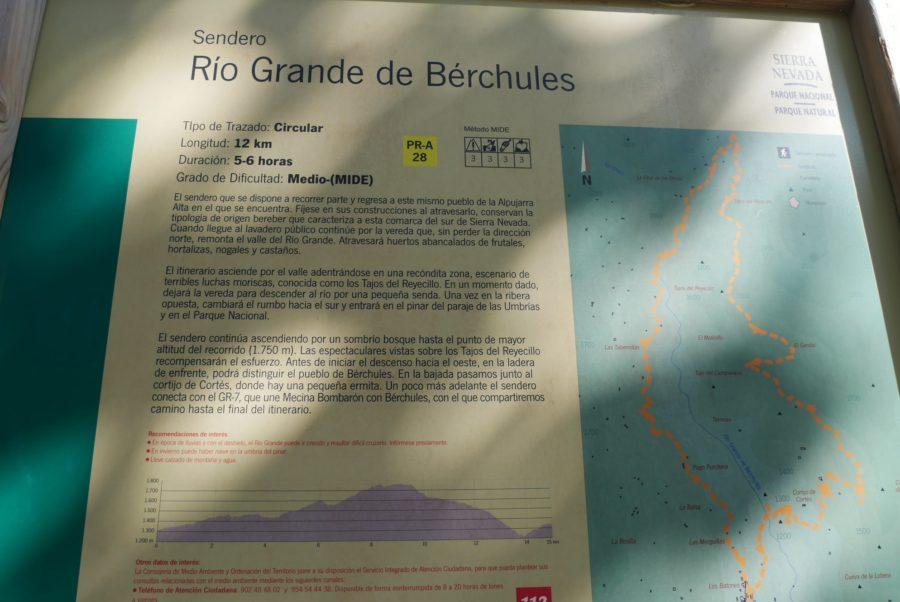 Sendero Río Grande de Bérchules