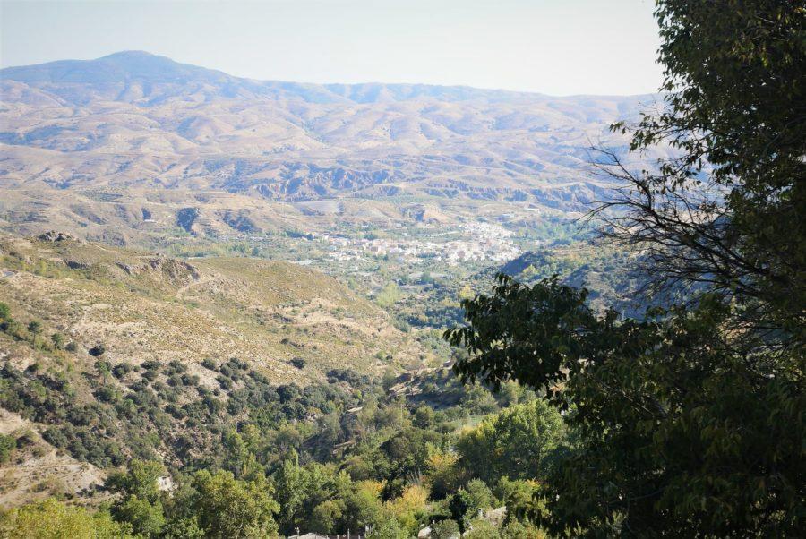 Vistas al valle desde Bérchules, Granada