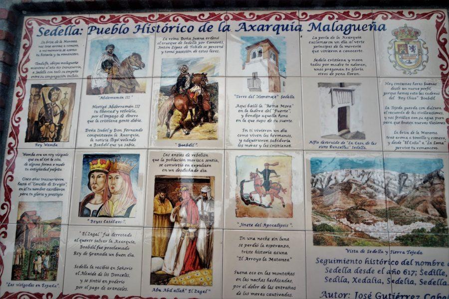Azulejos con la historia de Sedella