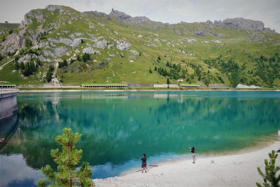 El lago di Fedaia, Los Dolomitas